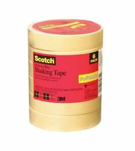 Scotch Home And Office Tape 6 pack 94 In X 54 6 Yd Case Of 4