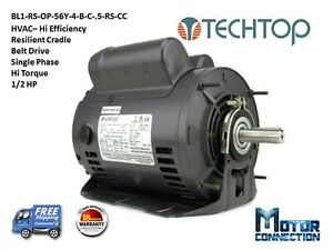 1 2 Hp Electric Motor Hvac Single Phase 56y 1800 Rpm