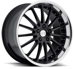 20x10 Coventry Whitley 5x108 Rims 25 Black Wheels Set Of 4