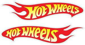 Set Of 2 Pair Hot Wheels Nascar Racing Vinyl Car Door Sticker Decal