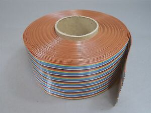75 ft Thomas Betts 201 64 Color Code Rainbow Flat Cable 64 Pin