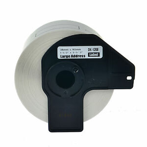 50 Roll Dk1208 Address Labels W Frame For Brother Ql 500 550 570 720nw 700 1050