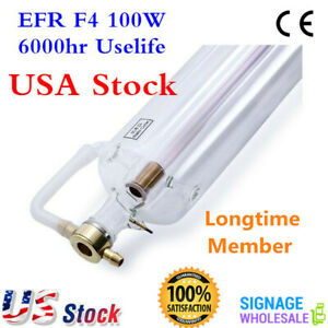Efr F4 100w Co2 Sealed Laser Tube 1450mml For Laser Engraving Machine 6000hr