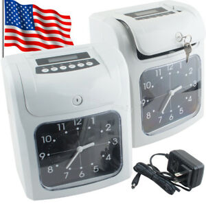 Lcd Electronic Employee Analogue Time Recorder Time Clock W card Monthly weekly