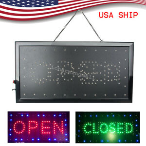 Ultra Bright Led Neon Light Open closed Business Sign Display Neon 8w Usa Stock