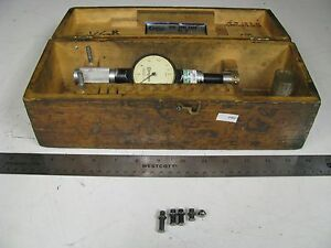 Standard 2 Dial Bore Gage Set In Case 1 1 8 1 3 16 0001 Fh37