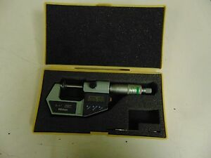 Mitutoyo 0 1 00005 english metric Digital Disc Micrometer W Case Fu47