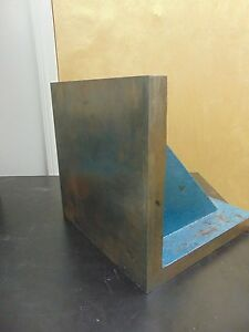 12 X 12 Plain Webbed Angle Plate Unknown Mfg Fu9