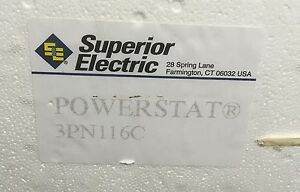 Superior Electric 3pn116c Variable Transformer Powerstat Variac 120v 10a Nos New