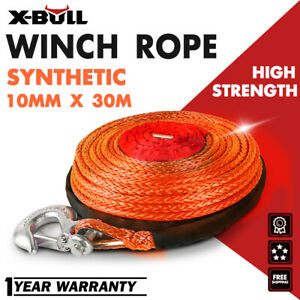 X Bull 2 5 X100ft Synthetic Winch Rope Orange Line Recovery Cable 23000lbs 4wd