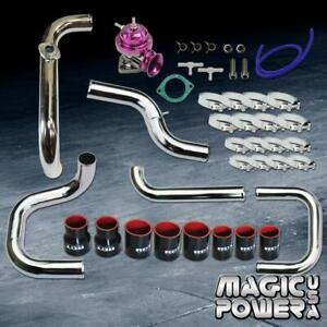 Chrome Intercooler Piping Purple Rs Bov black Coupler Kit For 1996 2000 Civic
