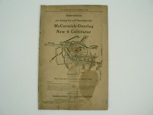 New 4 Cultivator Owners Manual Illustrations Parts List Mccormick Deering 1937