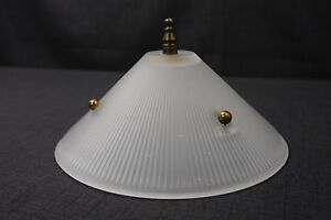 Antique Vintage 3 Chain 7 3 8 Diameter Shade 1940 S 3 Hole Light Fixture Shade