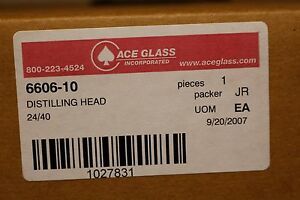 Unopened Ace Glass 24 40 Distillation Head 6606 10