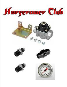 Quick Fuel 30 803 Holley Fuel Pressure Regulator Fittings Gauge Adapter