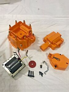 Gm Hei Distributor Orange Cap Rotor Sbc Bbc Replacement 65 000 Coil Include New