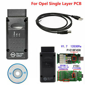 New Op Com Opcom Firmware V1 7 2014v Can Obd2 Adapter For Opel Single Layer Pcb