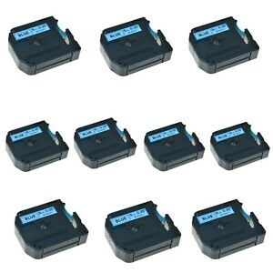 Us Stock 10pk M k521 Mk521 Black On Blue Label Tape For Brother P touch 9mm 3 8