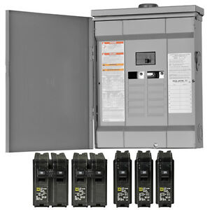 Square d 125 Amp Outdoor Main breaker Load Center 24 circuit 12 space Panel Box