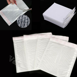16 Sizes White Padded Bubble lined Envelope Mailers Self seal Shipping Bags Lot