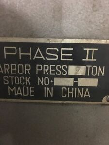 Phase Ii 2 Ton Arbor Press