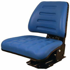 Seat Assembly Trapezoid Backed Vinyl Blue For Ford 445 3230 3430 3930 4130 4630
