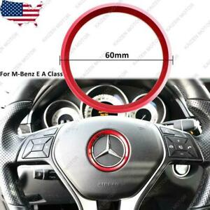 Red Wheel Ring Decorate Cover Trim For Mercedes Benz E C A Class Glk Gla Glc