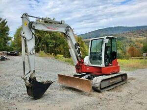 Bobcat 435g Excavator Hydraulic Thumb 3600 Hrs Ready To Work In Pa