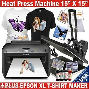 Digital Heat Press Transfer T shirt Print Sublimation Machine printer Epson Xl