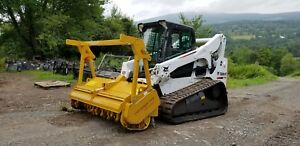 Bobcat T770 Track Skid Steer Fully Loaded New Seppi Forestry Mulcher In Pa