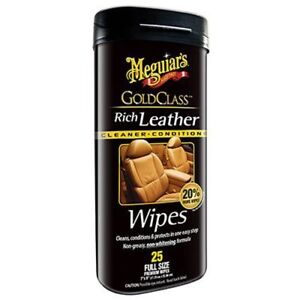 Meguiar S G10900 Gold Class Rich Leather Wipes