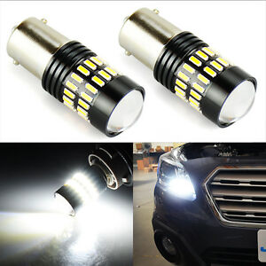 Jdm Astar 2x 1156 Ba15s 48 Smd White Led Light Bulbs Turn Signal Backup Reverse