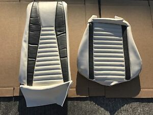 1971 1972 1973 Mustang Mach 1 Mach I White Gray Upholstery 1 Front Seat Cover