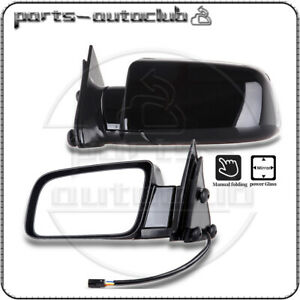 Pair Left Right Power Non Heated Side View Mirrors For Cadillac Chevrolet Gmc