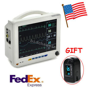 Us 12 Icu Ccu 6 parameter Patient Monitor Vital Sign Cardiac Medical Oximeter