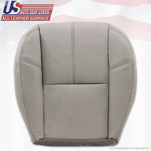 2007 2008 Chevy Tahoe Suburban Driver Bottom Leather Seat Cover Light Gray