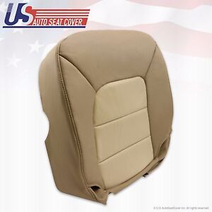 2004 Ford Expedition Eddie Bauer Driver Bottom Leather Seat Cover 2 Tone Tan