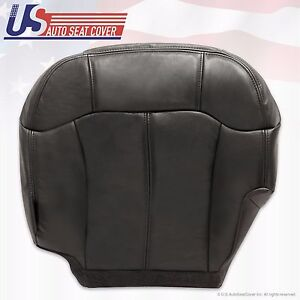 2001 2002 Chevy Silverado Driver Bottom Leather heated Seat Cover In Dark Gray
