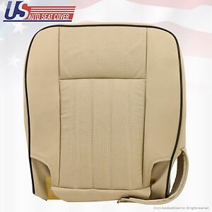 2003 2004 Lincoln Navigator Driver Bottom Perforated Leather Seat Cover Tan