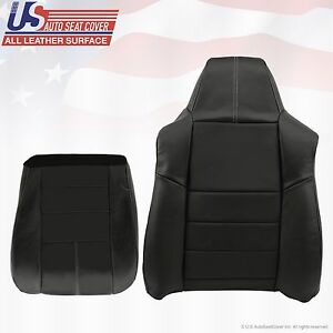 2008 To 2010 Ford F250 F350 Lariat Passenger Bottom top Leather Seat Cover black