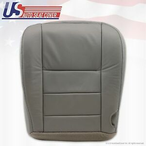 2002 03 04 05 06 07 Ford F250 F 350 Lariat Bottom Seat Cover Gray All Vinyl