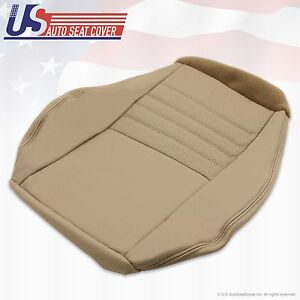 1999 2000 2001 2002 2003 04 Ford Mustang Gt Driver Bottom Leather Seat Cover Tan
