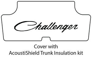 1970 1974 Dodge Challenger Trunk Rubber Floor Mat Cover With Me 020 Challenger