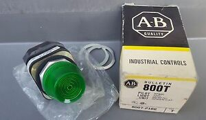 Allen Bradley Panel mount Pilot Light 800t p16g Green Lens New In Box 120vac