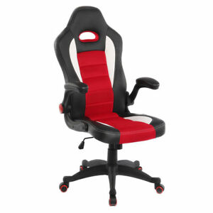 Pc Gaming Chair Adjustable Arms Big And Tall Office Chair Ergonomic Leather Mesh