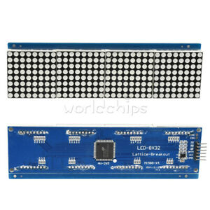 Ht1632c Display Mcu Dot Matrix Module 3208 Red Led Replace Max7219