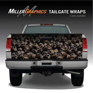 Pile Of Skulls Aged Truck Tailgate Vinyl Graphic Decal Wrap