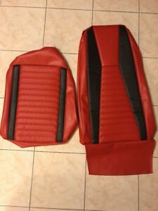1971 1972 Mustang Mach 1 Mach I Vermilion Red Upholstery 1 Front Seat Cover