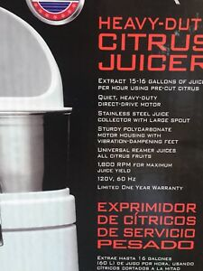 Waring Commercial Heavy duty Citrus Juicer