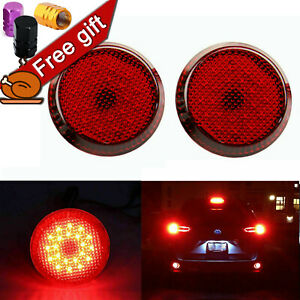 Red Bumper Reflector Led Brake Tail Light For Scion Iq Xb Toyota Sienna Corolla